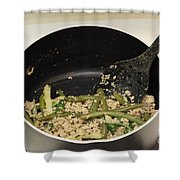 Cooking Salmon With Green Beans Shower Curtain