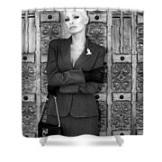 Cool Blonde Bw Palm Springs Shower Curtain