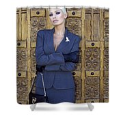 Cool Blonde Palm Springs Shower Curtain