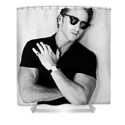 Cool Cal Bw Palm Springs Shower Curtain