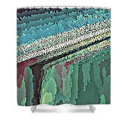 Cool Colors Abstraction Shower Curtain