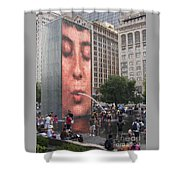 Cool Crowd Shower Curtain
