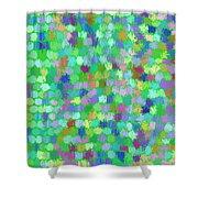 Cool Green Splash Art Shower Curtain