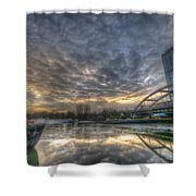 Cool Harbor Shower Curtain