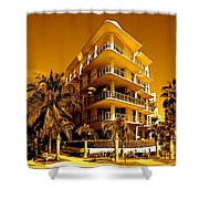 Cool Iron Building In Miami Shower Curtain