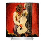 Cool Jazz Served Hot Shower Curtain
