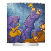 Cool Jazz Trio Shower Curtain