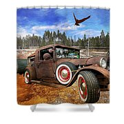 Cool Rusty Classic Ride Shower Curtain