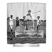 Cool Tee Time Shower Curtain