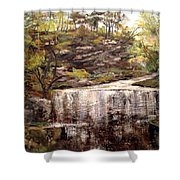 Cool Waterfall Shower Curtain