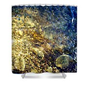 Cool Waters...of The Rifle River Shower Curtain