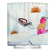 Cool  Winter Friend - Snowman - Fun Shower Curtain
