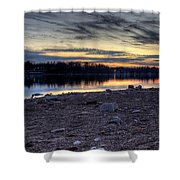 Cool Winter Sunset Shower Curtain