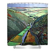 Coombe Valley Gate, Exmoor, 2009 Acrylic On Canvas Shower Curtain