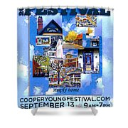 Cooper Young Festival Poster 2008 Shower Curtain