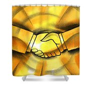 Cooperation Shower Curtain