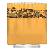 Coorong Mirage Shower Curtain