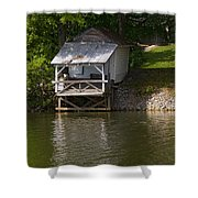 Coosa River Fishing Hut   #9548 Shower Curtain