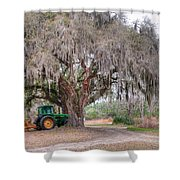 Coosaw Cross Roads With Live Oak Shower Curtain