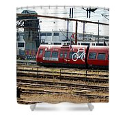 Copenhagen Commuter Train Shower Curtain