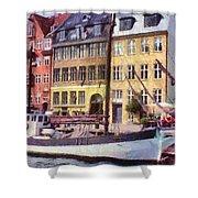 Copenhagen Shower Curtain by Jeff Kolker