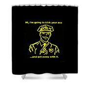 Copkickingass Yellow Shower Curtain