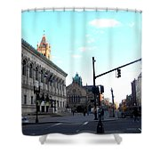 Copley Square - Old South Church Shower Curtain