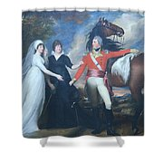 Copley's Colonel William Fitch And His Sisters Sarah And Ann Fitch Shower Curtain