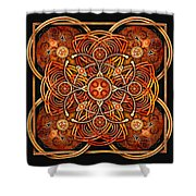 Copper And Gold Celtic Cross Shower Curtain