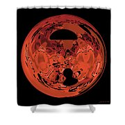 Copper Disk Abstract Shower Curtain
