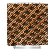 Copper Electron Micrograph Grid Shower Curtain
