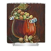 Copper Kettle Of Grapes Shower Curtain