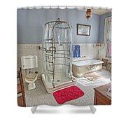 Copper King Victorian Bathroom - Butte Montana Shower Curtain