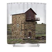 Copper Mine Enginehouse Shower Curtain