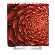 Copper Spiral Vortex Shower Curtain