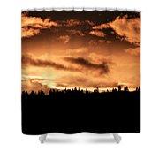 Copper Sunset Shower Curtain