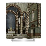 Coptic Church, Cairo, Egypt, 1906 Shower Curtain by Getty Research Institute