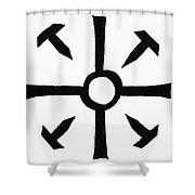 Coptic Cross Shower Curtain