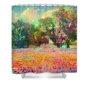 Coquelicots Shower Curtain