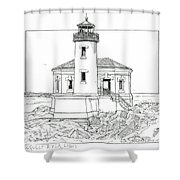 Coquille River Light Shower Curtain