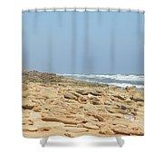 Coquina Rock On A Florida Beach Shower Curtain