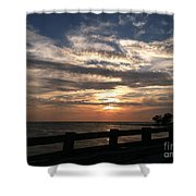 Coquina Sunset Shower Curtain