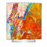 Coral Bay And Ningaloo Shower Curtain