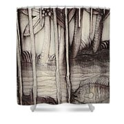 Coral Carving. Maldives Shower Curtain by Jenny Rainbow
