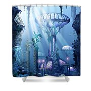 Coral City   Shower Curtain