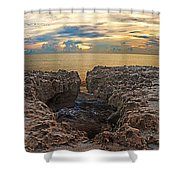 Coral Cove Sunrise Shower Curtain