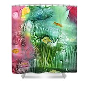 Coral Fishies Shower Curtain