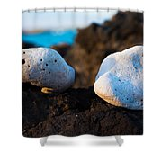 Coral Friends Shower Curtain
