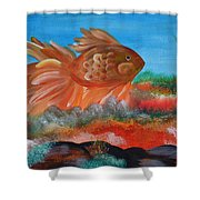 Coral Land Goldfish Shower Curtain