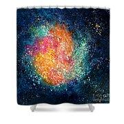 Coral Nebula Shower Curtain